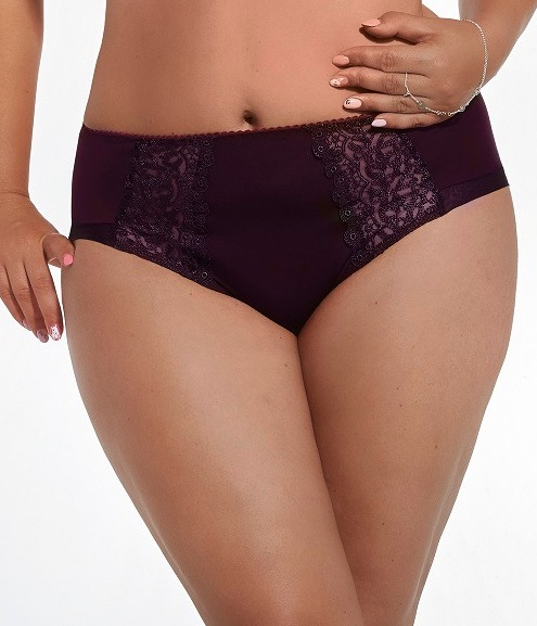Трусики Kris Line Betty Briefs Midi слип big (M, L, XL, XXL, XXXL, XXXXL) баклажан